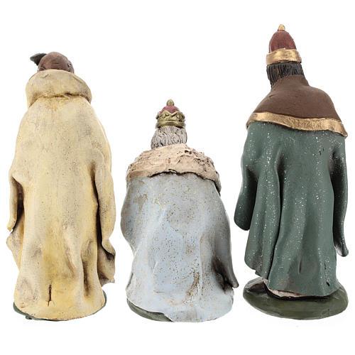 Trois rois Mages terre cuite 18 cm 6