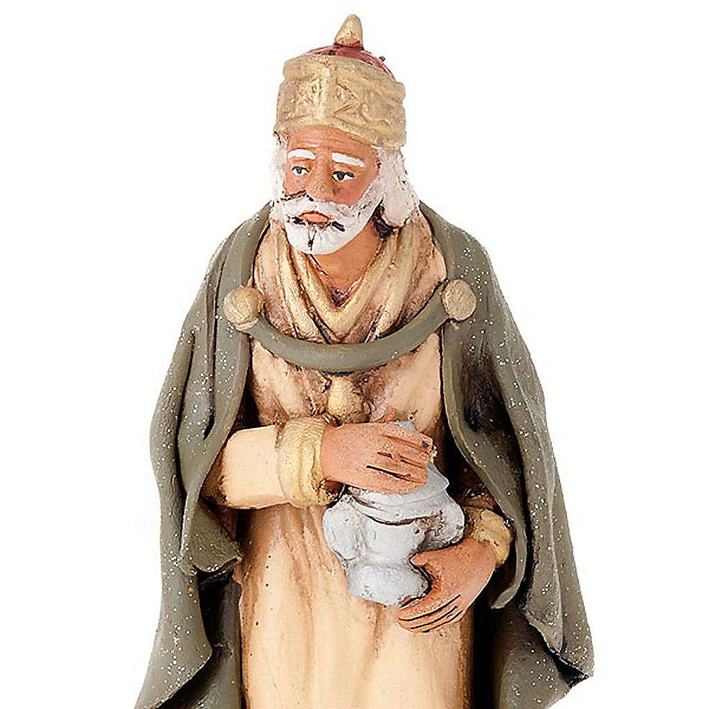Tre Re Magi terracotta presepe 18 cm 4