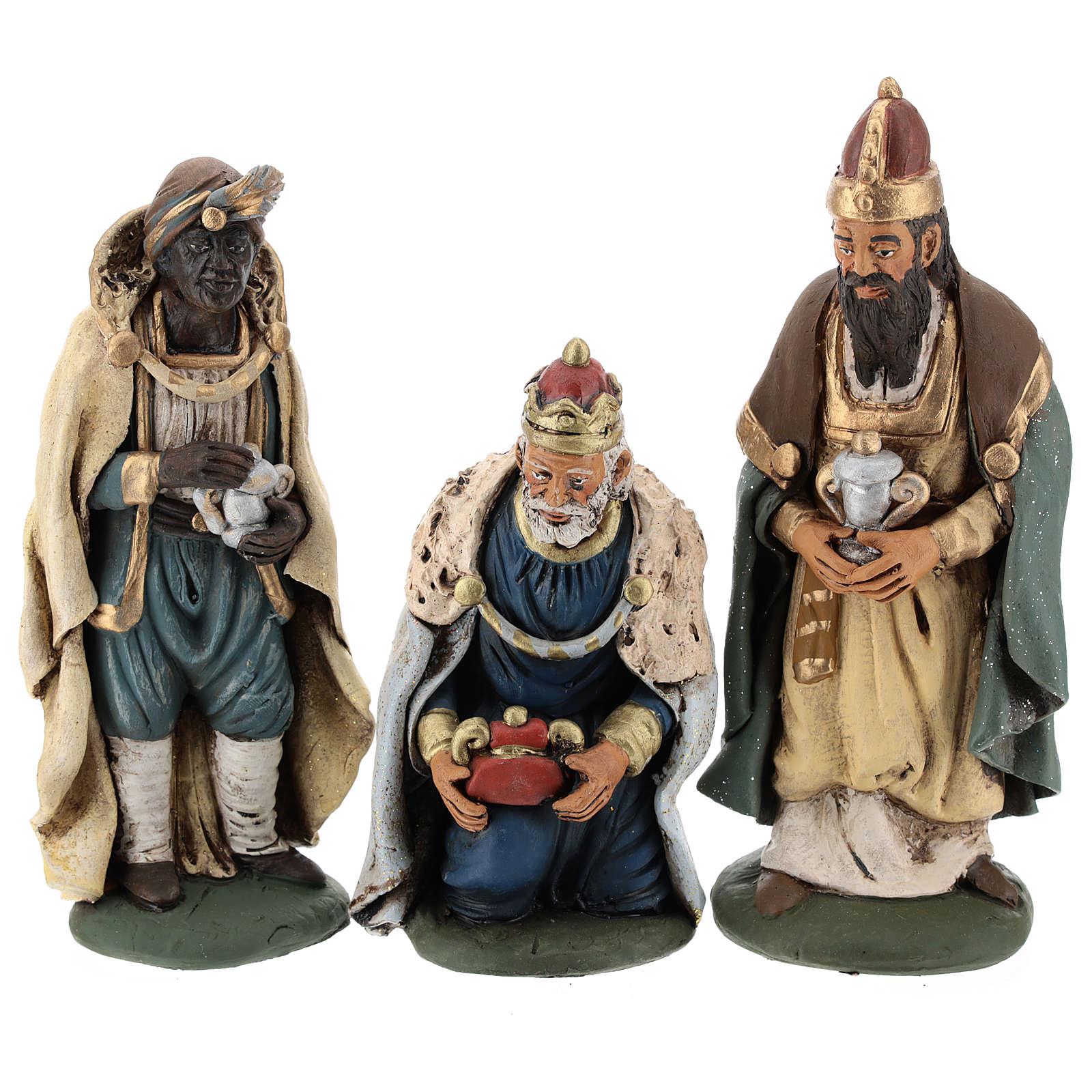 Tre Re Magi terracotta presepe 18 cm 4