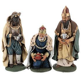 Tre Re Magi terracotta presepe 18 cm s1