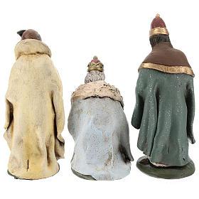 Tre Re Magi terracotta presepe 18 cm s6
