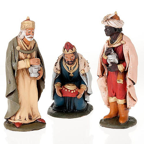 Tre Re Magi terracotta presepe 18 cm 1