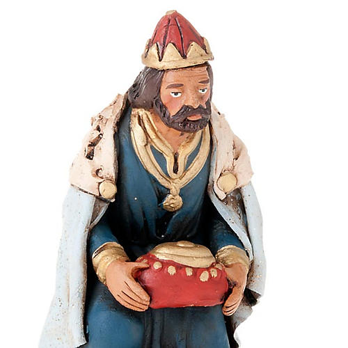 Tre Re Magi terracotta presepe 18 cm 2
