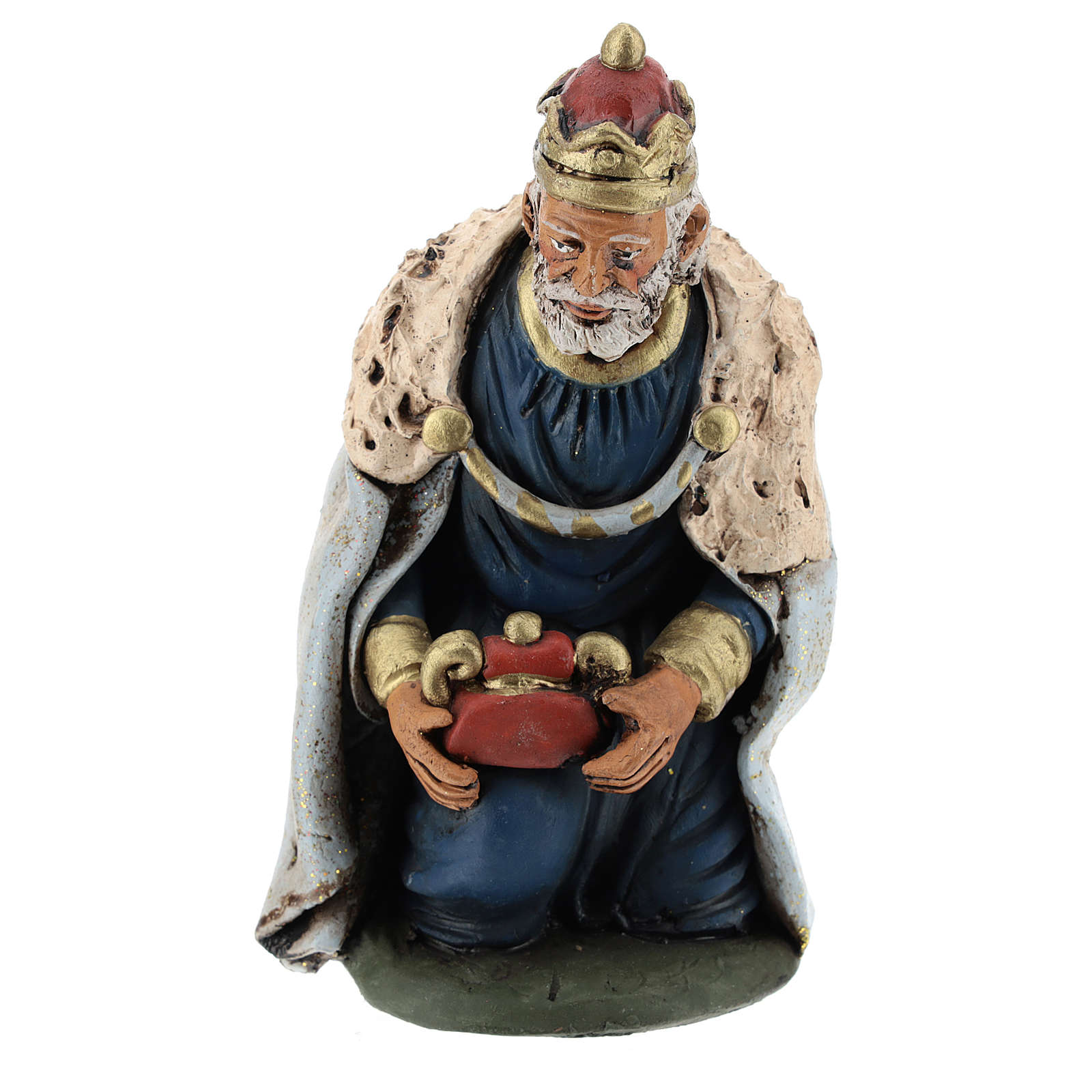 Nativity set accessories clay Three wise kings 18 cm 4