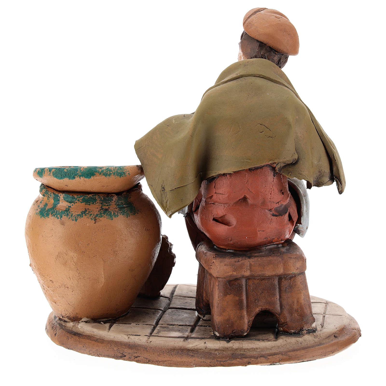 Nativity set accessory, terracotta craftsman figurine, 18cm 4