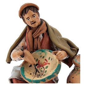 Santon crèche de Noël décorateur d'assiettes terre cuite 18cm s2