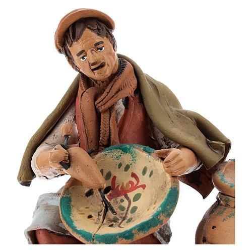 Santon crèche de Noël décorateur d'assiettes terre cuite 18cm 2