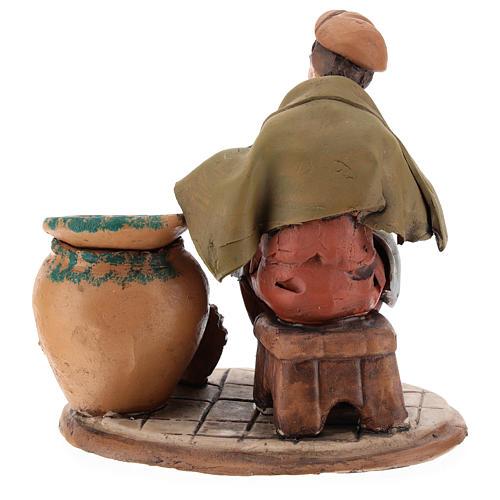 Santon crèche de Noël décorateur d'assiettes terre cuite 18cm 5