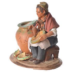 Decoratore piatti terracotta presepe 18 cm s2