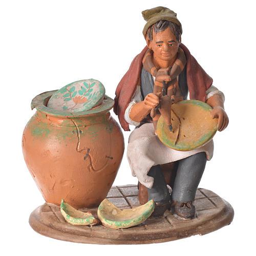 Decoratore piatti terracotta presepe 18 cm 1