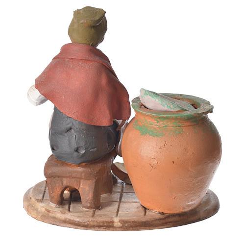 Decoratore piatti terracotta presepe 18 cm 3