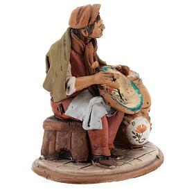 Nativity set accessory, terracotta craftsman figurine, 18cm s4