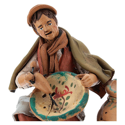 Nativity set accessory, terracotta craftsman figurine, 18cm 2