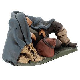 Nativity set accessory shepherd asleep clay, 18cm s4