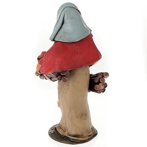 Donna con legna terracotta presepe 18 cm 2