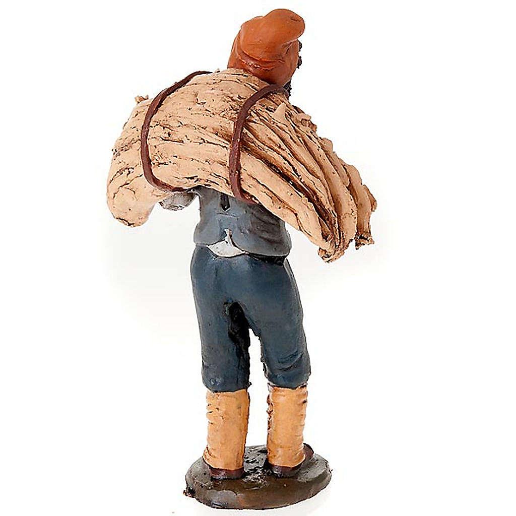 Uomo con fieno terracotta presepe 18 cm 4