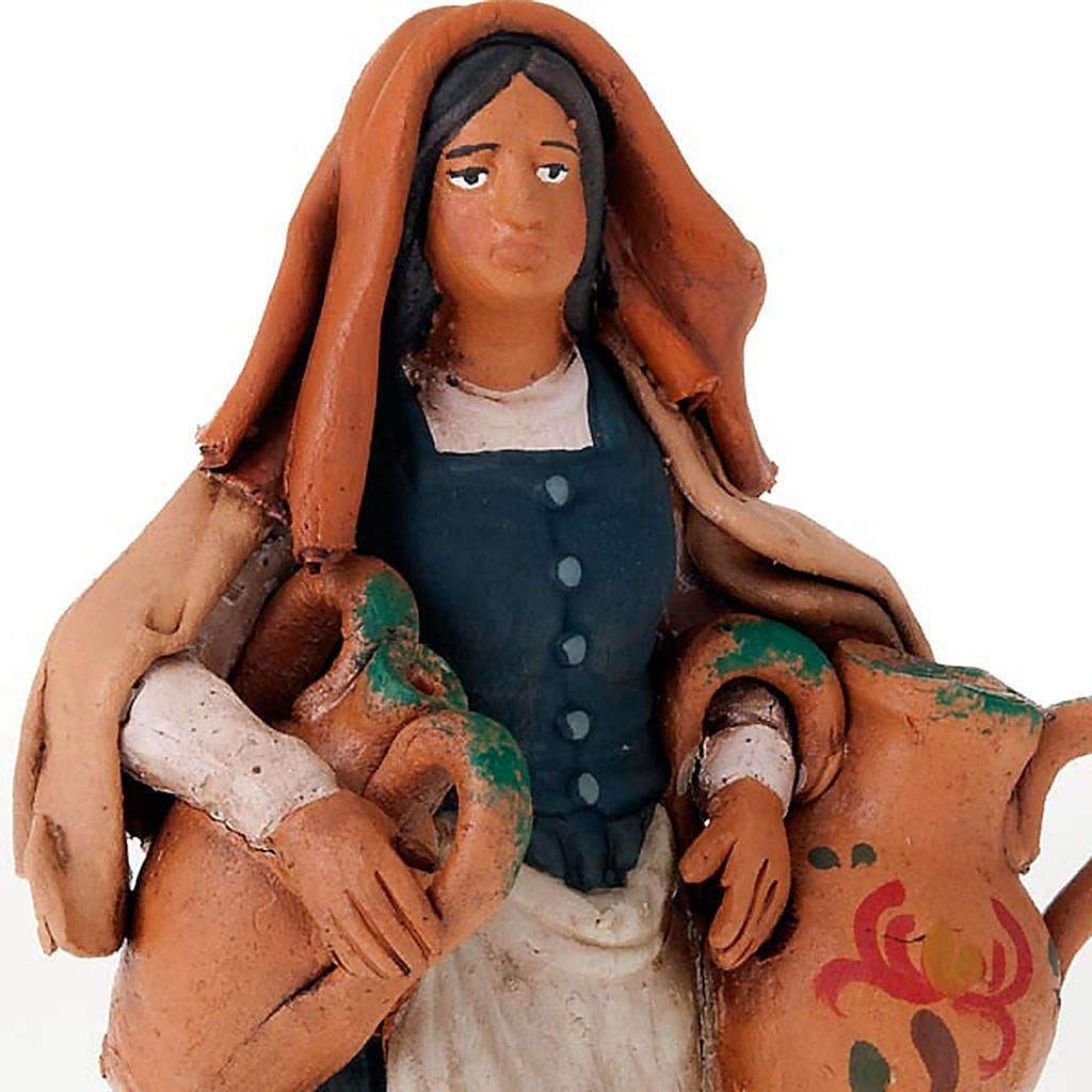 Donna con anfore terracotta 18 cm 4