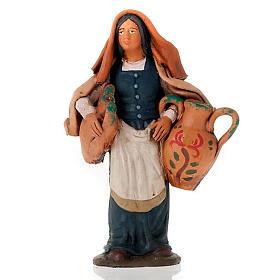 Donna con anfore terracotta 18 cm s1