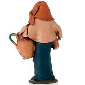 Donna con anfore terracotta 18 cm s2