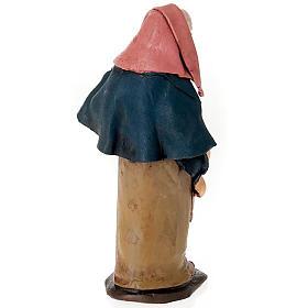 Donna con formaggio in terracotta 18 cm s2