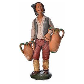 Presépio Terracota Deruta: Homem com ânforas terracota presépio 18 cm