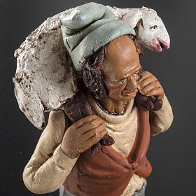 Pastore in terracotta presepe 18 cm s5