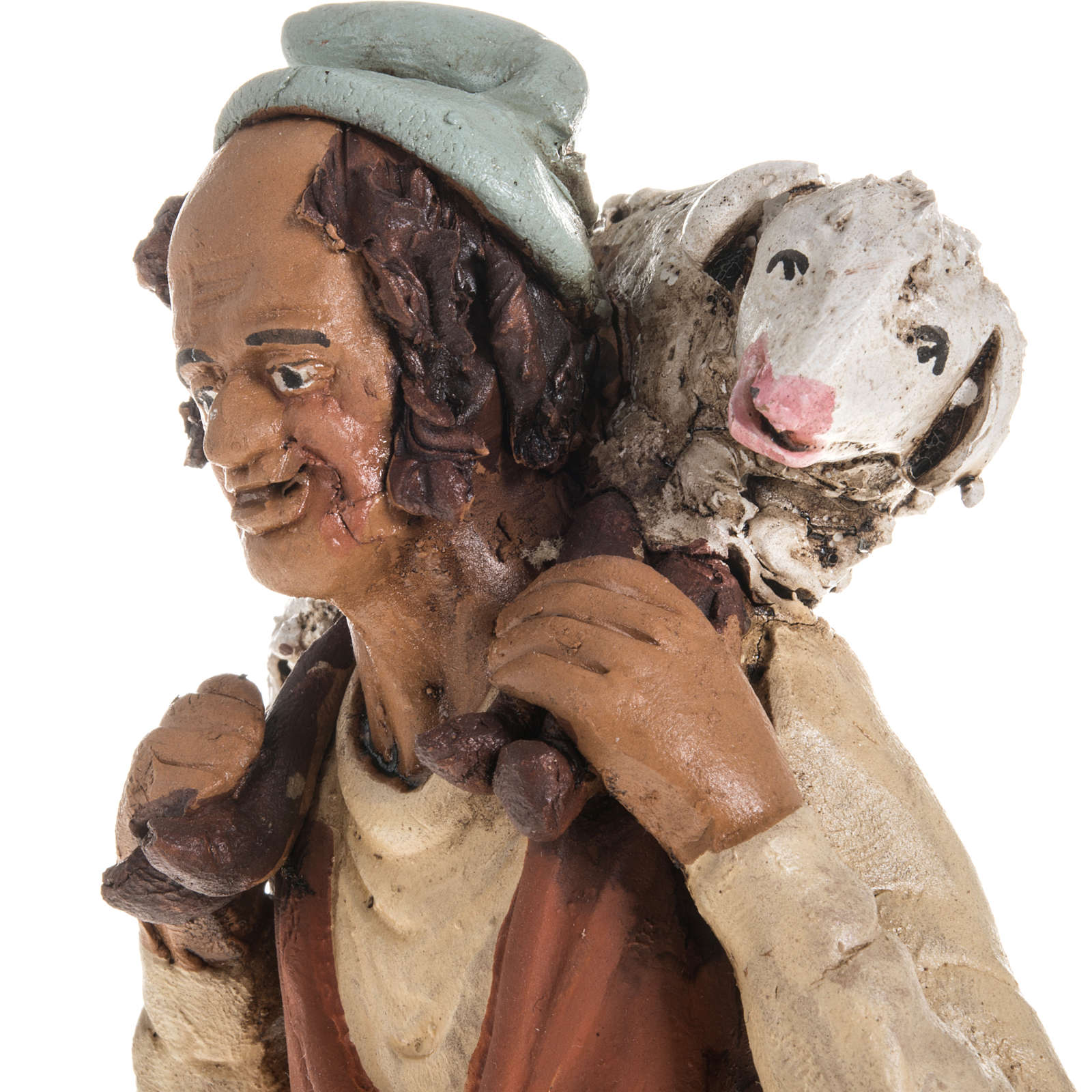 Nativity set accessory shepherd clay 4