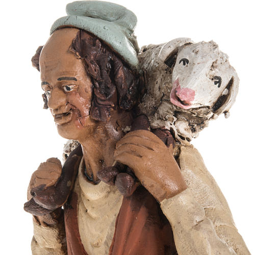 Nativity set accessory shepherd clay 3