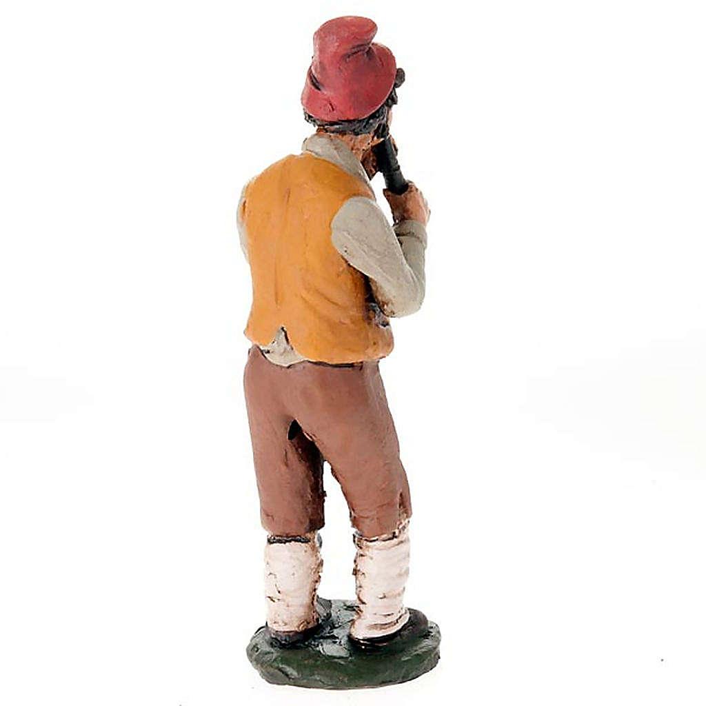 Pifferaio terracotta presepe 18 cm 4