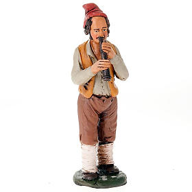 Presépio Terracota Deruta: Flautista terracota presépio 18 cm