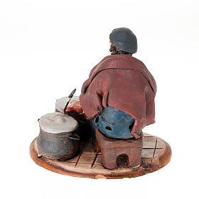 Nativity set accessory, Coppersmith clay figurine s2
