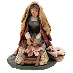 Naitivity set accessory, Washerwoman clay figurine s6