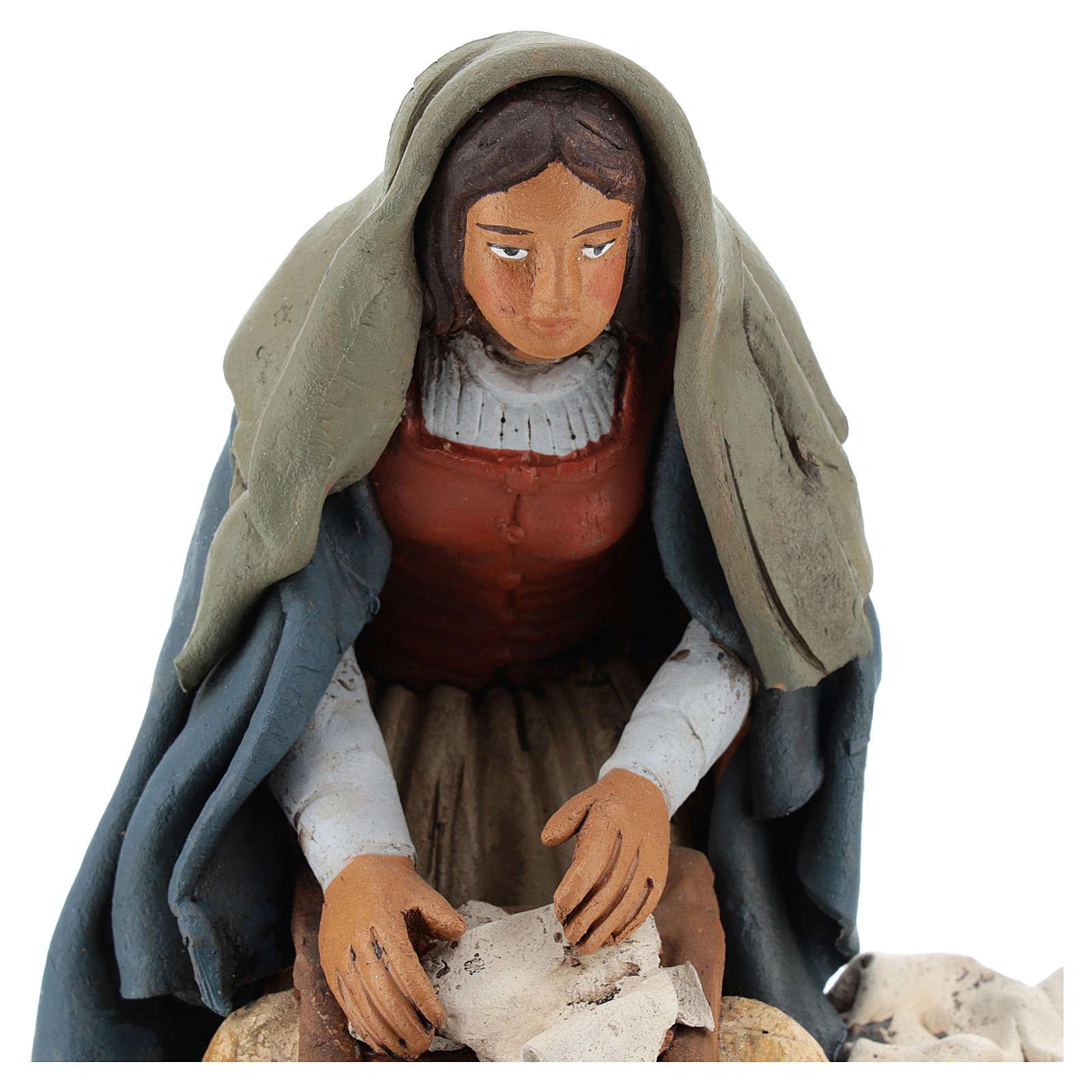 Lavandaia statuetta in terracotta 18 cm 4