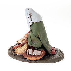 Lavandaia statuetta in terracotta 18 cm s2