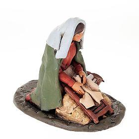 Lavandaia statuetta in terracotta 18 cm s3