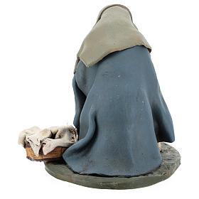 Lavandaia statuetta in terracotta 18 cm s5