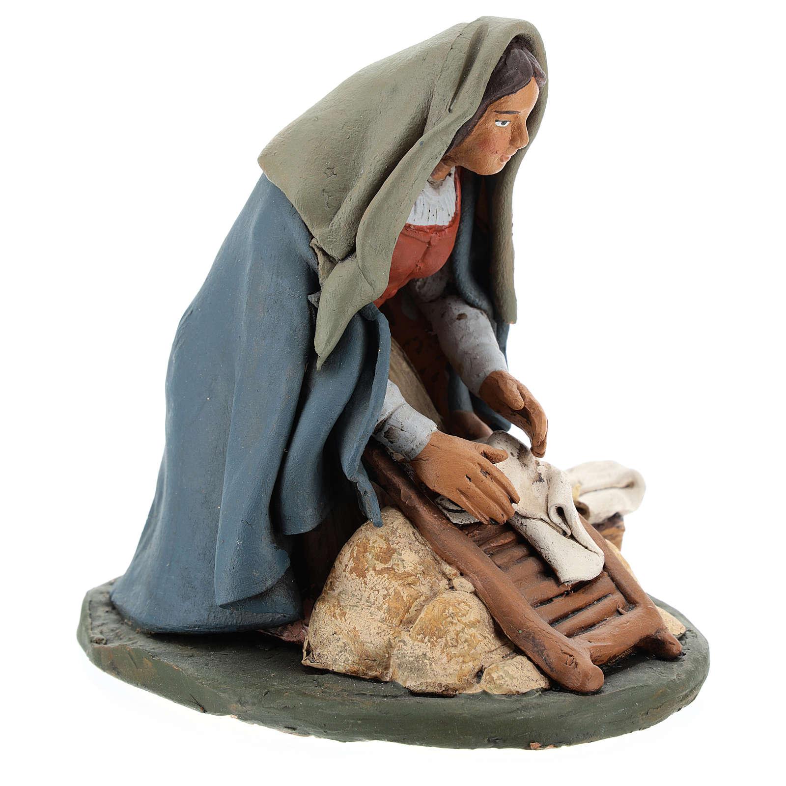 Naitivity set accessory, Washerwoman clay figurine 4