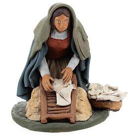 Naitivity set accessory, Washerwoman clay figurine s1