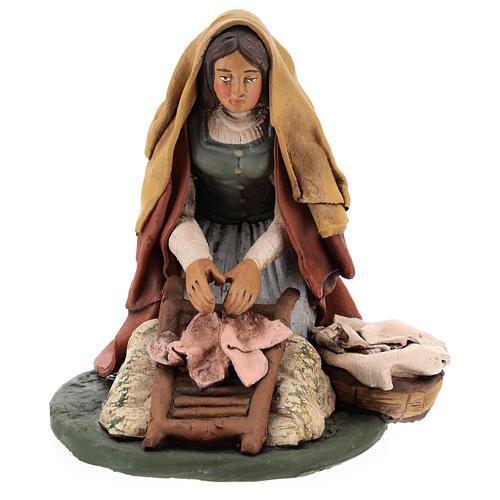 Naitivity set accessory, Washerwoman clay figurine 6