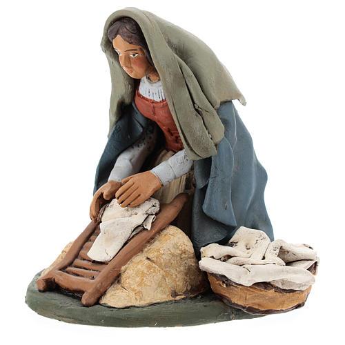 Naitivity set accessory, Washerwoman clay figurine 3