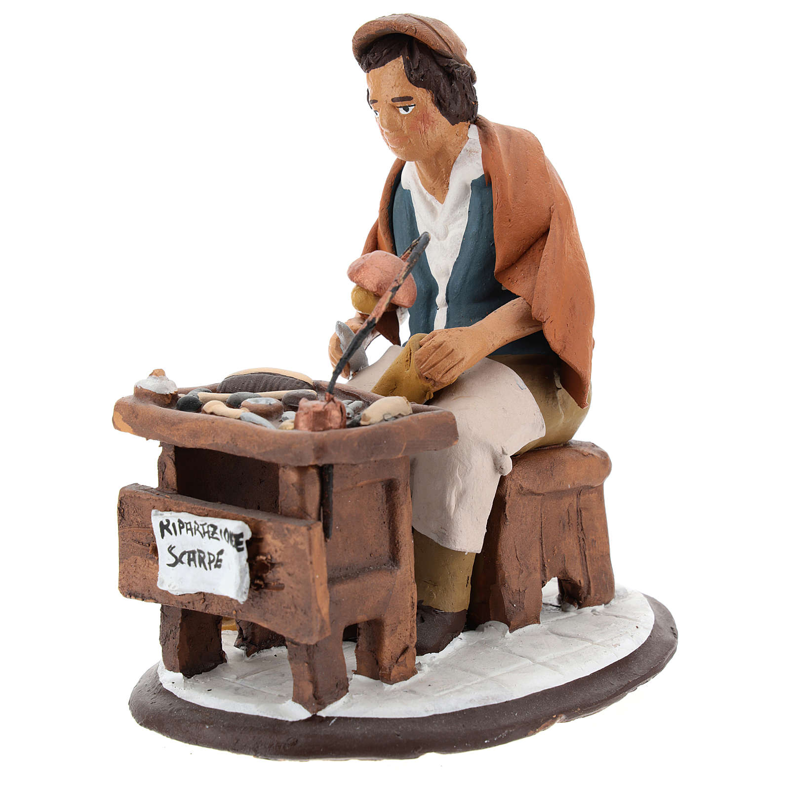 Nativity set accessory, Cobbler clay figurine 18cm 4