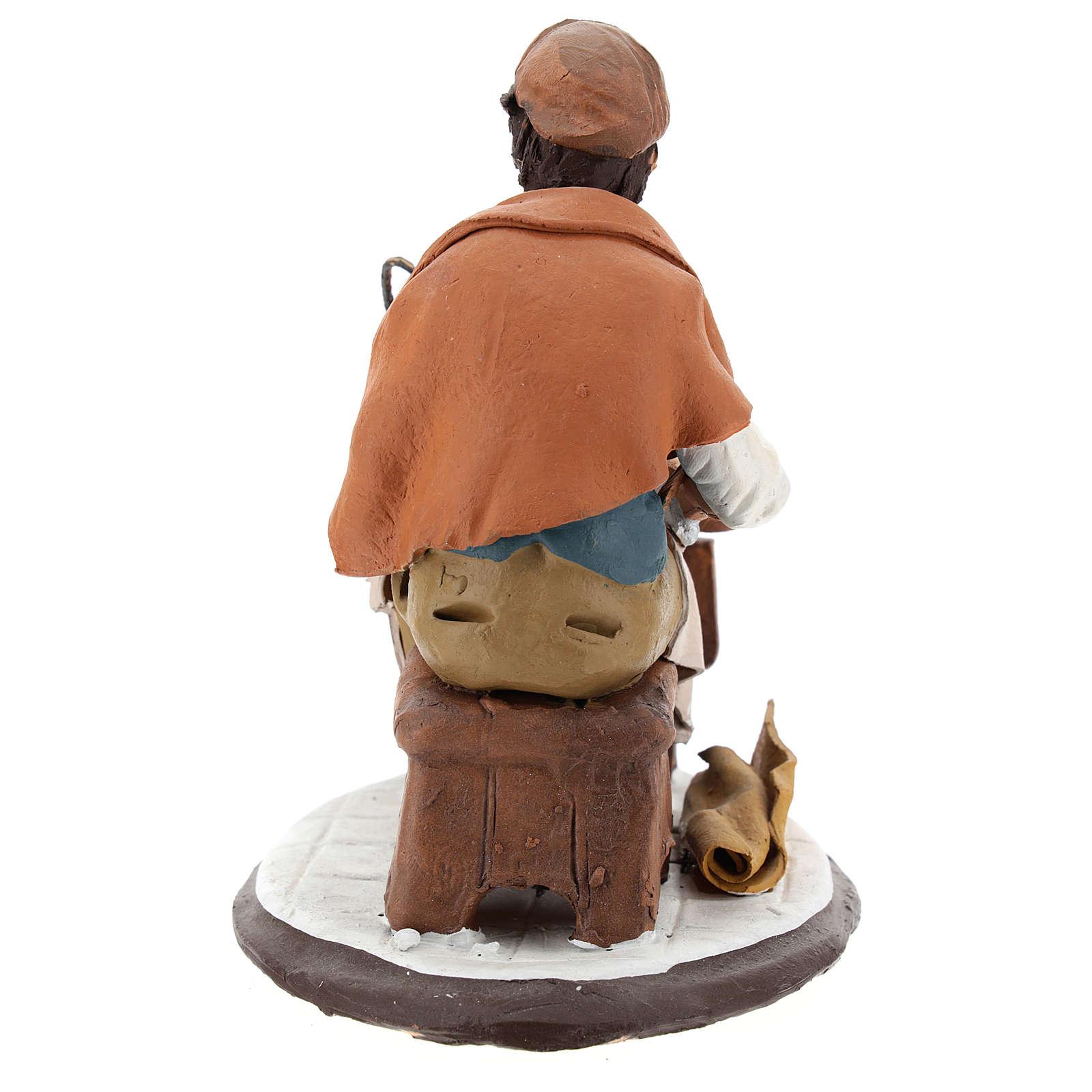 Santon crèche de Noël cordonnier 18cm 4