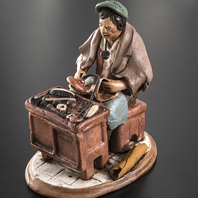 Nativity set accessory, Cobbler clay figurine 18cm s5