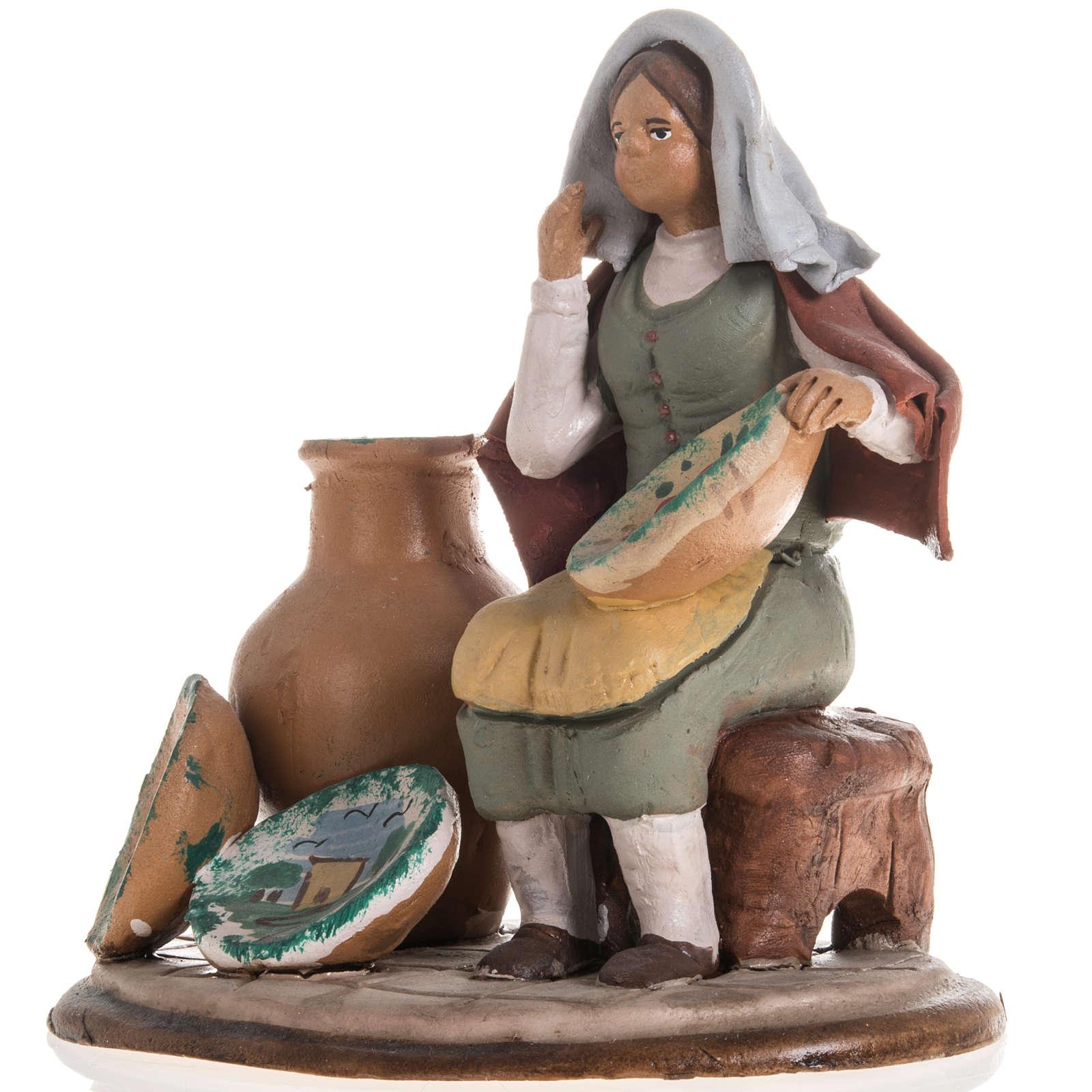 Santon crèche de Noël vendeuse de vases 4