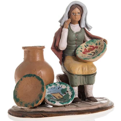 Santon crèche de Noël vendeuse de vases 1