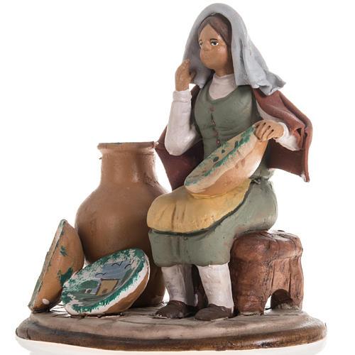 Santon crèche de Noël vendeuse de vases 2