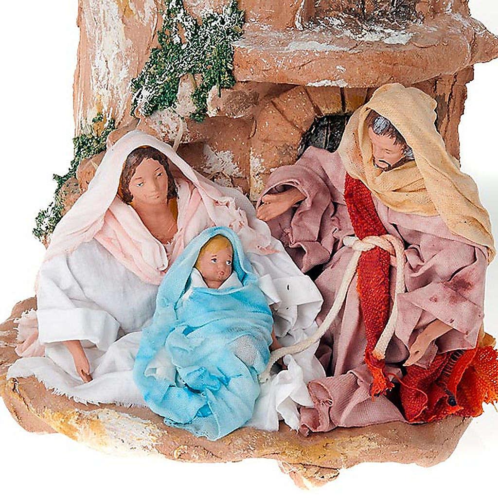 Tuile en terre cuite Nativité 4