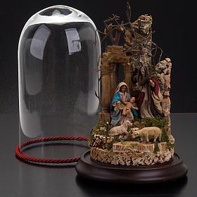 STOCK - Natività campana di vetro h 26 cm s3