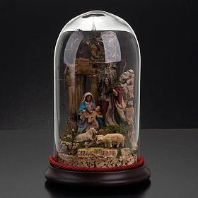 STOCK - Natività campana di vetro h 26 cm s4