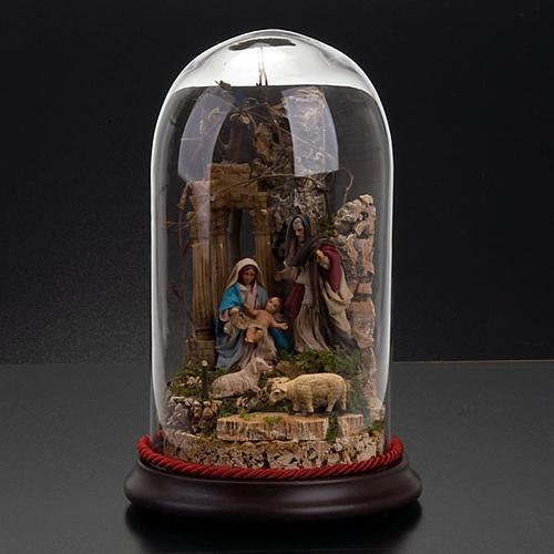 STOCK - Natività campana di vetro h 26 cm 4